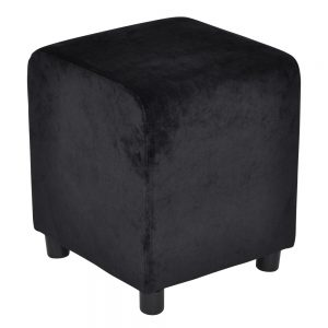 Block Pure Black Velvet 39x39cm