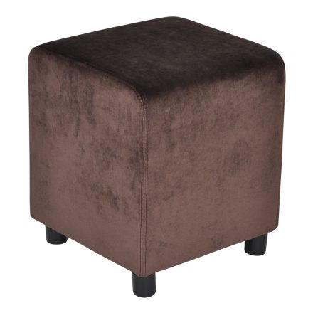 Block Chocolate Brown Velvet 39x39cm
