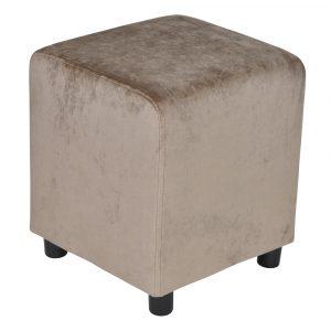 Block Grey Brown Velvet 39x39cm