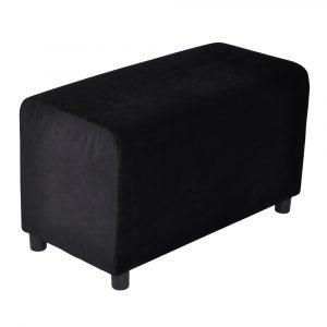 Brick Pure Black Velvet 39x78cm