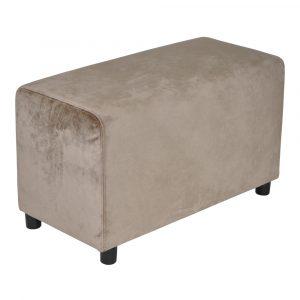 Brick Grey Brown Velvet 39x78cm