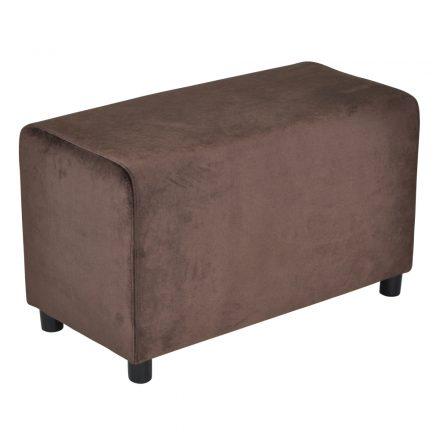 Brick Chocolate Brown Velvet 39x78cm