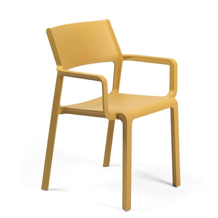 Trill Nardi terrasarmstoel geel