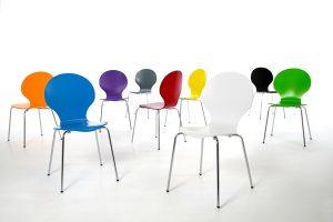 Set van 4 Vlinderstoelen Naturel