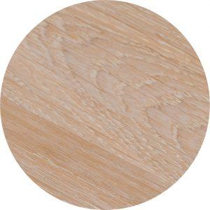 Tropisch hardhouten Tafelblad Ø70cm Wit gebeitst