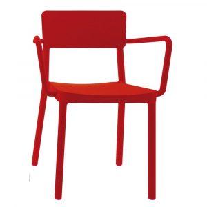 Lisboa armstoel rood vanaf: