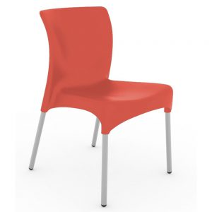 Moon terrasstoel rood vanaf: