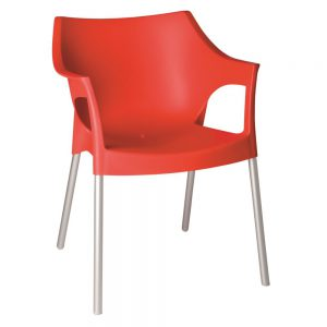 Pole terrasstoel rood vanaf: