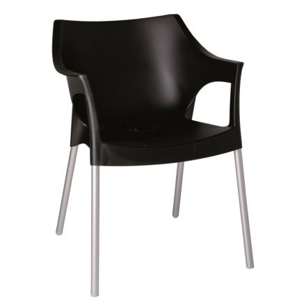 Pole terrasstoel zwart vanaf: